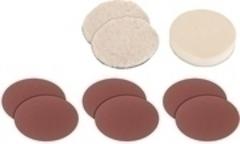 Sada leštiacich povlakov a brúsnych diskov 9-dielna k BT-PO 1100/1 Einhell Grey 2093233
